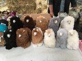 Alpaca stuffed animal light brown_