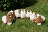 Alpaca stuffed animal multi color_