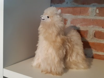 Alpaca stuffed animal beige
