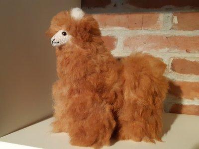 Alpaca stuffed animal light brown