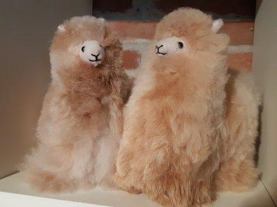 Alpaca stuffed animal light fawn